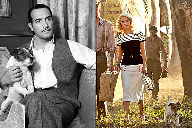 Uggie in 'The Artist' and 'Water for Elephants'