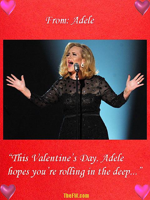 Adele Valentine's Day card