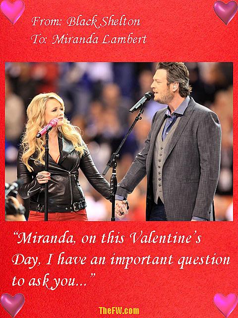 Blake Shelton Miranda Lambert Valentine's Day card