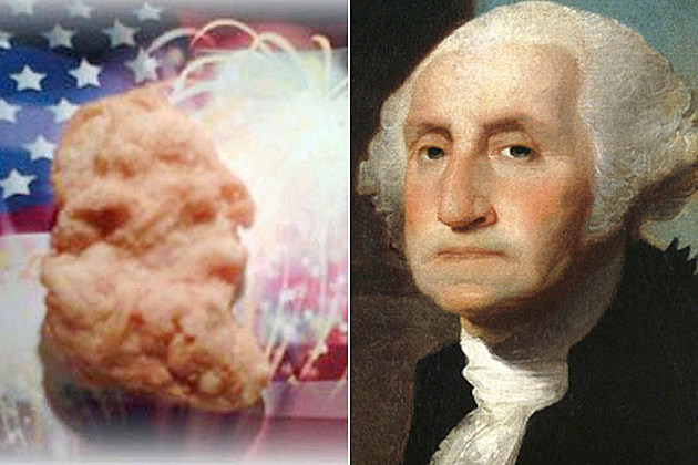 chicken mcnugget that looks like george washington