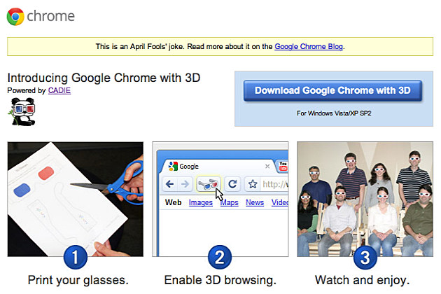 Google Chrome 3D