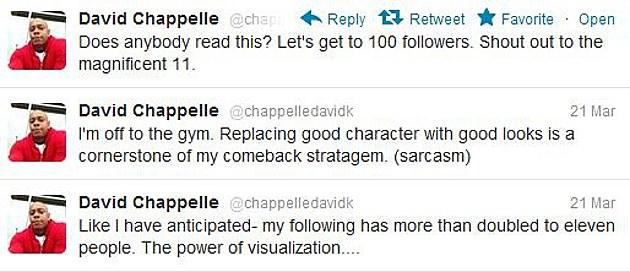 Chappelle tweets