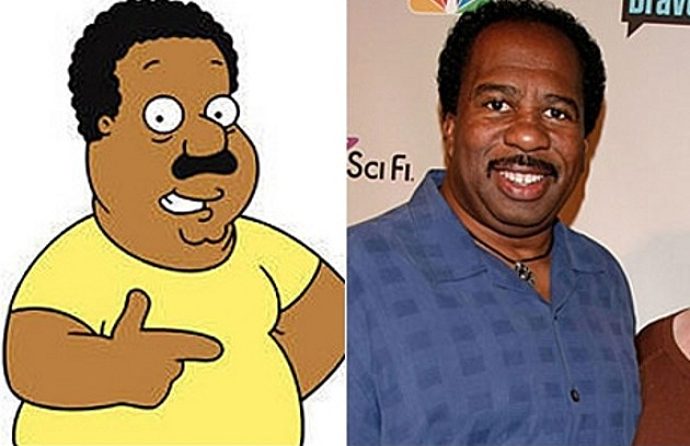 Cleveland family guy stanley the office