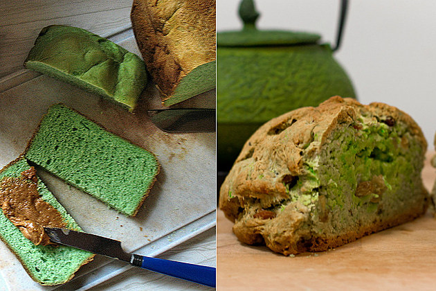 St. Patrick's Day green bread