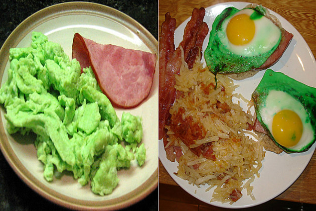 St. Patrick's Day green eggs and ham