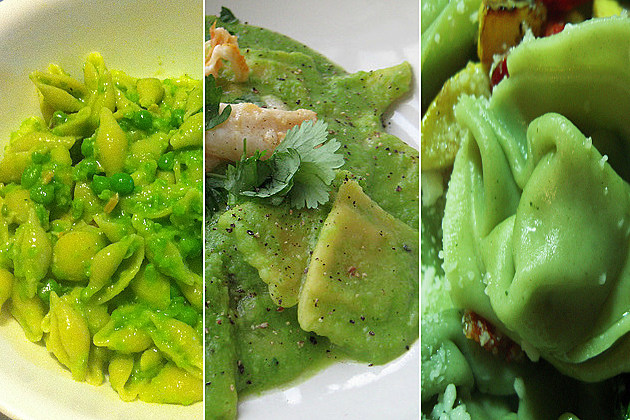St. Patrick's Day green pasta