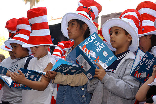 Kids Reading Seuss
