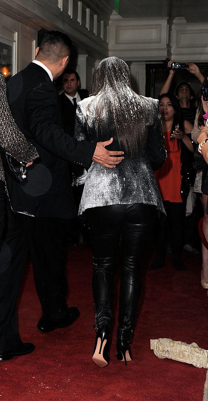 Kim Kardashian Flour bombed