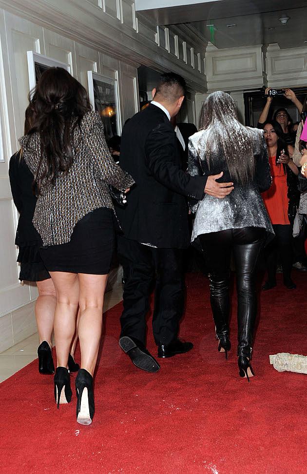 Kim Kardashian flour bomb
