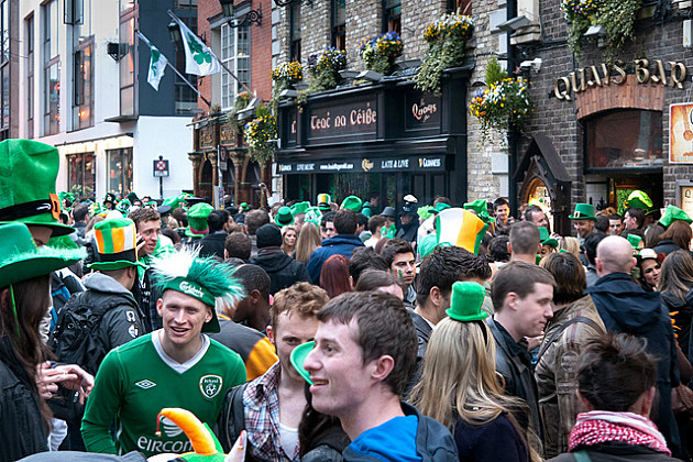 St. Patrick's Day party in Dublin