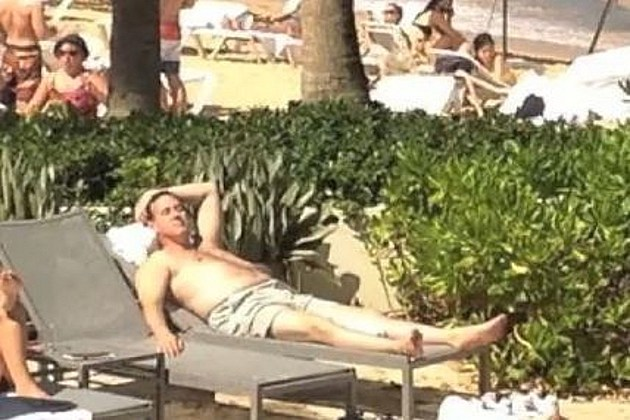 Rick Santorum sunbathing
