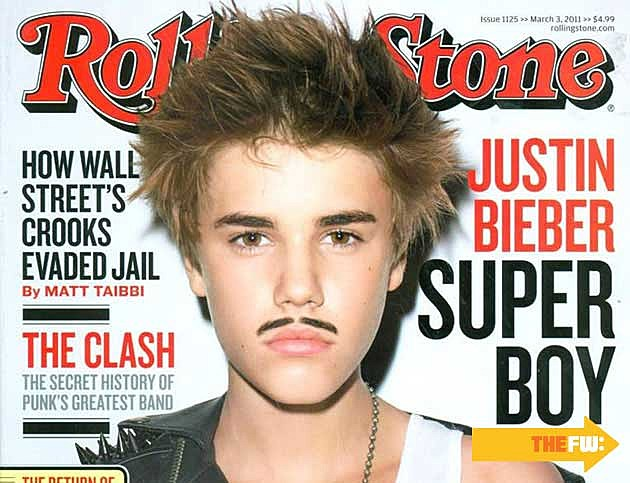 Justin Bieber Mustache Eyebrows