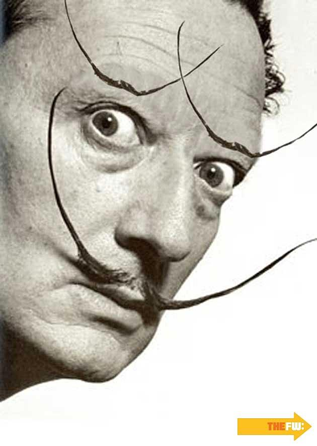 Salvador Dali Mustache Eyebrows