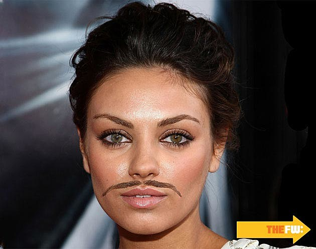 Mila Kunis Mustache Eyebrows