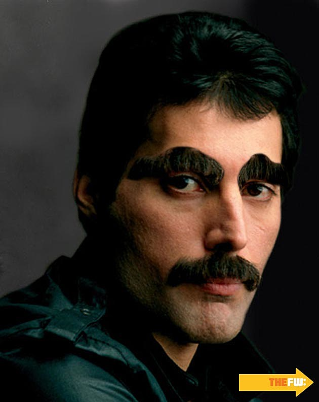 Freddie Mercury Mustache Eyebrows