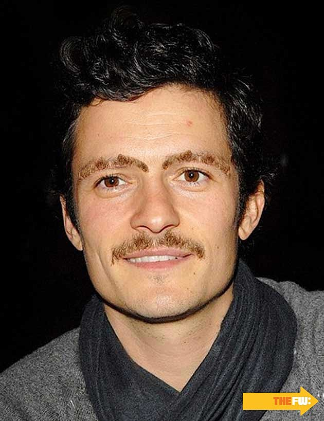 Orlando Bloom Mustache Eyebrows