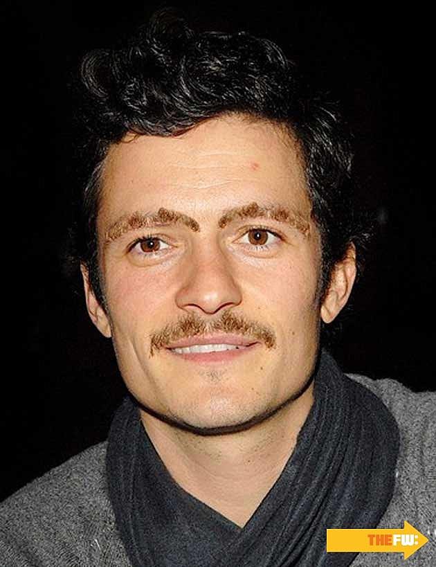 Orlando Bloom Mustache Eyebrows