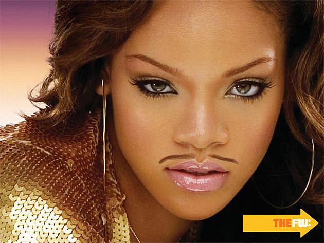 Rihanna Mustache Eyebrows