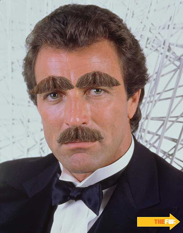 Tom Selleck Mustache Eyebrows