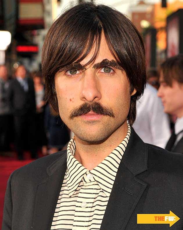 Jason Schwartzmann Mustache Eyebrows