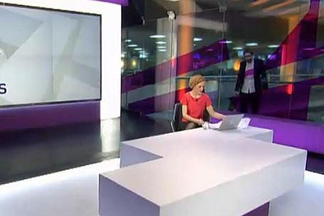 Zombie on newscast