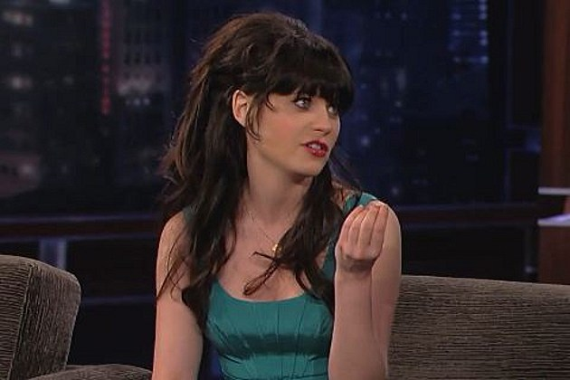Zooey Deschanel Jimmy Kimmel
