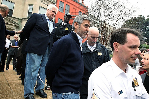 DC Rally Protests Sudanese Regime's Food Blockade george clooney arrested