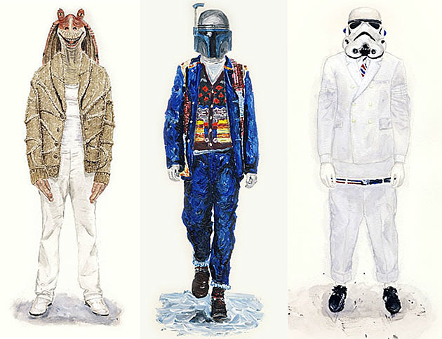 Jar Jar Binks Boba Fett Stormtrooper fashion models