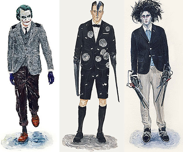 Joker T-1000 Edward Scissorhands fashion models