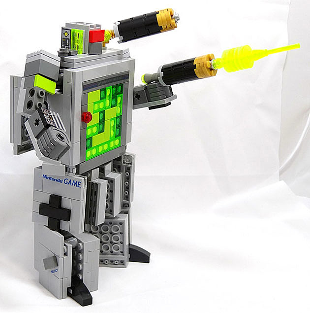Lego Gameboy Transformers robot
