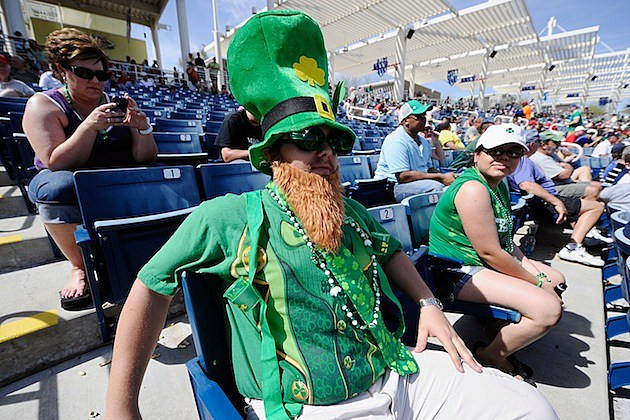 Chicago White Sox v Milwaukee Brewers leprechaun st. patrick's day