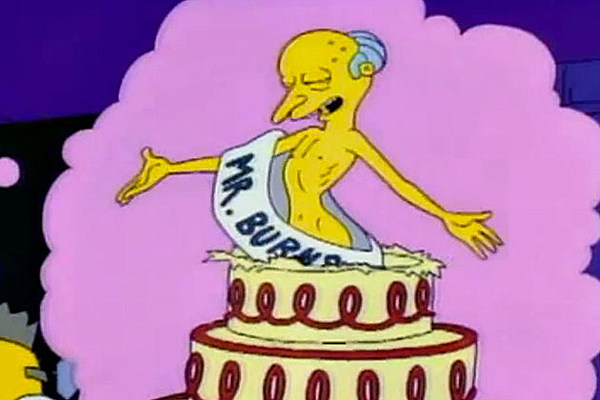 Smithers Mr Burns Cake