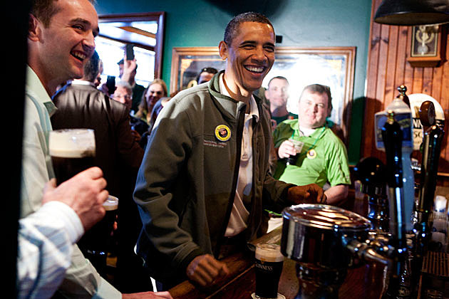 President Barack Obama on St. Patrick's Day