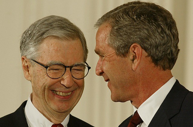 Presidential Medal of Freedom Award Presented george w. bush fred rogers
