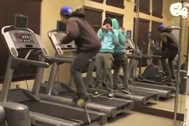treadmill pogo stick fail