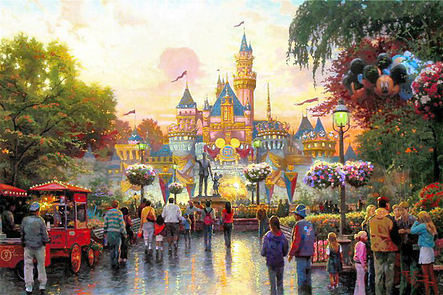 Thomas Kinkade's Disneyland's 50th Anniversary painting