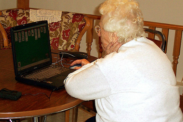 Grandma at the computer