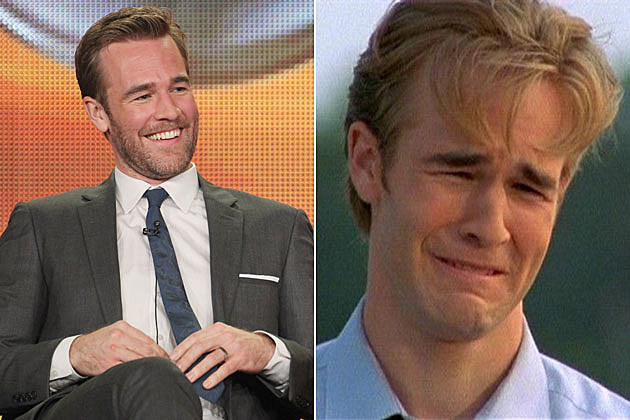 James Van Der Beek on 'Dawson's Creek' crying face