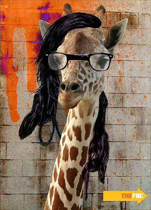 Animals with Skrillex Hair Giraffe