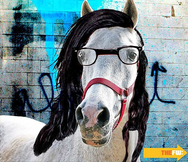 Animals with Skrillex Hair Horse