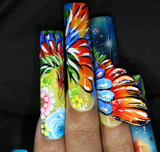 Nail Art Designs - Bird