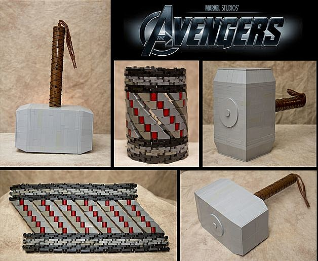 Avengers Weapons in Lego