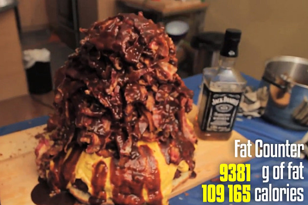 The Boss Bacon Burger has 500 strips of bacon and more than 109,000 calories.