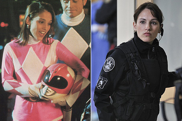 Pink Ranger Amy Johnson Then and Now