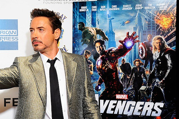 """The Avengers"" Premiere, Closing Night Of The Tribeca Film Festival Sponsored By Bombay Sapphire robert downey jr. iron man poster captain america julk black widow"