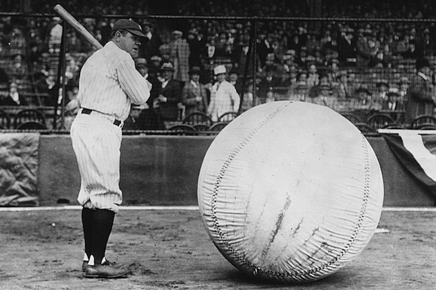 Big Ball Player babe ruth new york yankees baseball