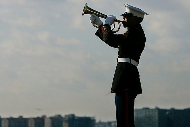 Veterans Commemorate Pearl Harbor Anniversary In New York bugler