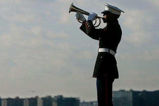 Veterans Commemorate Pearl Harbor Anniversary In New York bugler