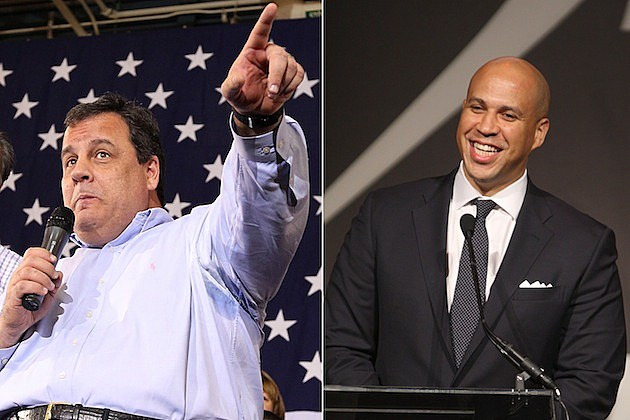 chris christie cory booker new jersey governor newark mayor