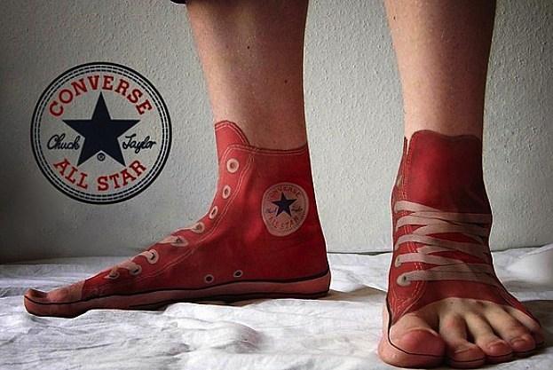 Converse Sneaker Tattoo